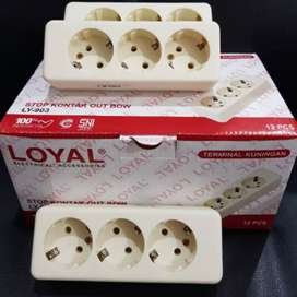 Stopkontak 3 Lubang Loyal
