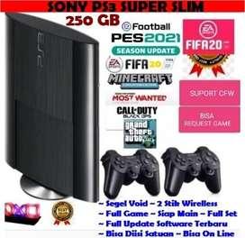 New Sony Ps3 Super Slim 250 GB Void Full Set