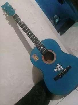 Jual gitar akustik standar blue