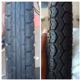 Bike tyres front and back