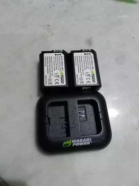Wasabi baterai battery 2 pack and charger for sony NP-FW50