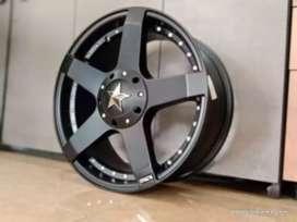 Velg mobil racing murah ring17x7.5h10x100/114.3 et35 cocok untuk Luxio