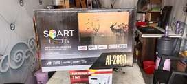 Smart Led tv with warranty new pc box pack