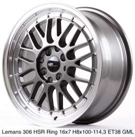 Kredit Bunga 0% LEMANS 306 HSR R16X7 H8X100-114,3 ET38 GREY/ML