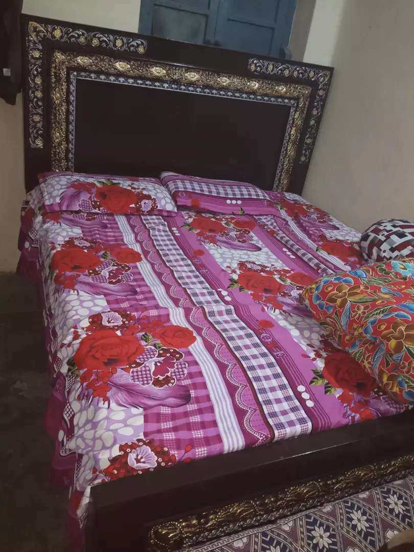 Bed only 2 month used dark brown colour full size 0