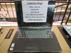 New Lenovo IP 130 Amd A4-9125 Ram 4GB Hdd 500GB Bergaransi Terpervaya