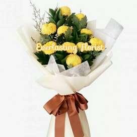 Bucket Bunga Ping Pong Pingpong Kuning Yellow Flower Bouquet Buket