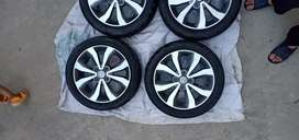 Japanese Alloy rims of Nissan Genuine  R 15., 15 inch size.