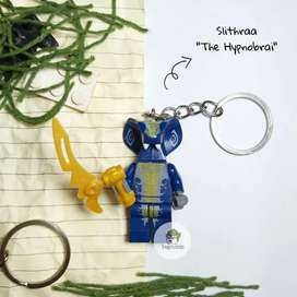 Gantungan Kunci Lego Ninjago Minifigure Slithraa The Hypnobrai