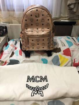 Backpack mcm rose gold