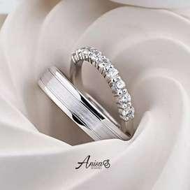 BEST SELLER Cincin nikah couple palladium &platinum kadar 5-10%