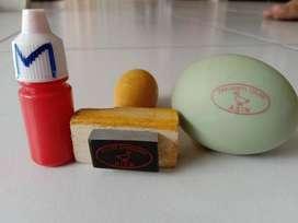 Stempel telur + tinta 5ml anti luntur/waterproof