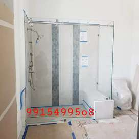 Bathroom thoughened glass fitting