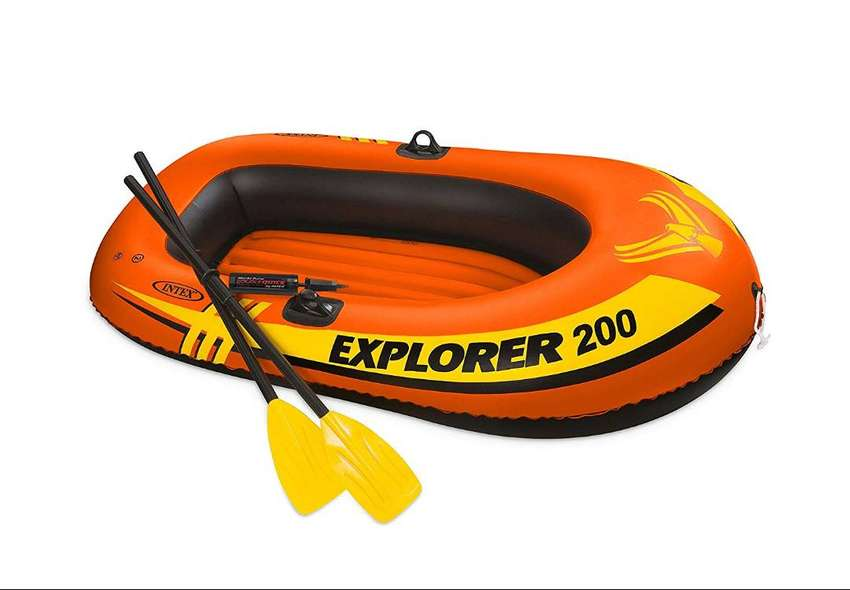 "INTEX Boat Explorer Pro 200 For 2 Person 120 KG (77"" x 40"" x 13"" ) Wit 0"