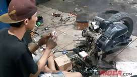 Bengkel servis motor