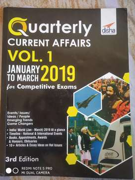 Quarterly current affairs vol 1 - January to March 2019