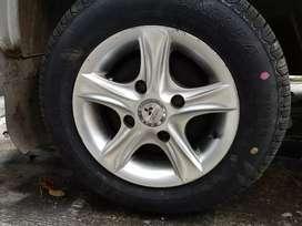 New Alloy wheels +tyre fitted in maruti 800 zen alto800 k10