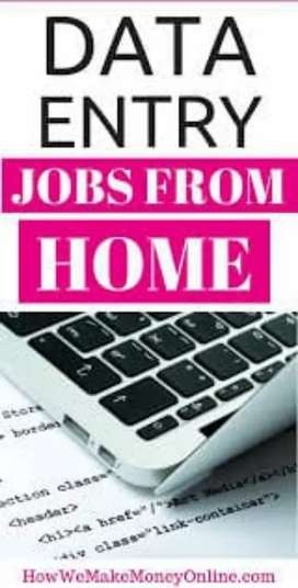 Data entry work computer and laptop is must vacancies available