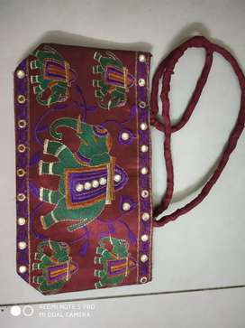 Bag with ethnic embroidery