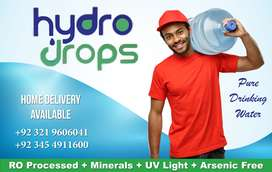 Hydro Drops Pure Drinking Mineral Water in 80 PKR only( Free Delivery)