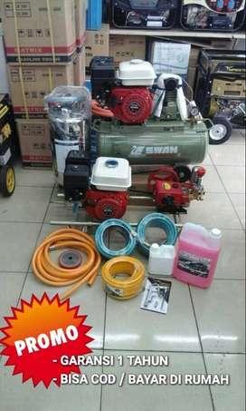 Mesin cuci steam dan kompresor SWAN BENSIN  murah