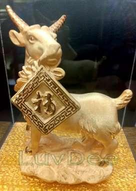 Patung shio Kambing Fu R 850 kado souvenir