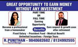 INCOME opportunity for RETD. /VRS & House views Age limit 30 +