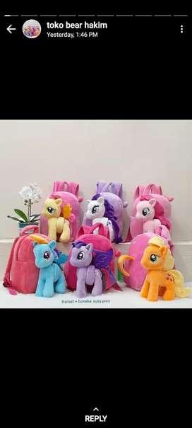 Tas Ransel+Boneka Kuda Pony 26cm