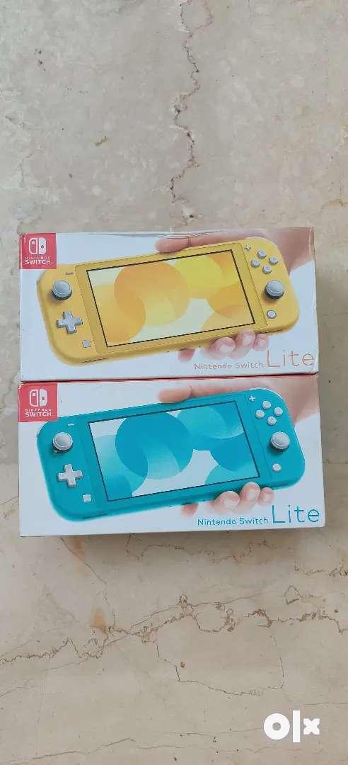 Nintendo switch lite sea blue and yellow