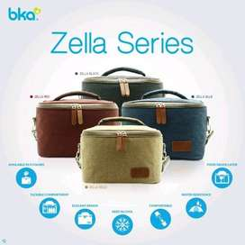 BKA Cooler Bag Zella Black + Ice Gel 420rg+2 Botol Asi 100ml bielbaby