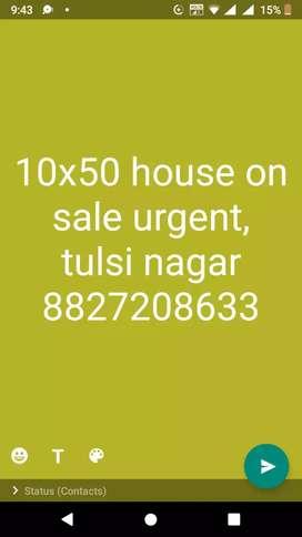 10x50 sqft house portion on sale urgent at prime location