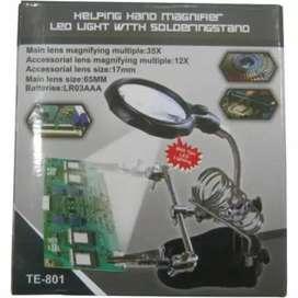 PENJEPIT PCB / PENJEPIT PCB HOLDER + KACA PEMBESAR + LAMPU LED