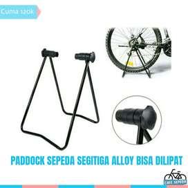 Paddock sepeda alloy bisa di lipat