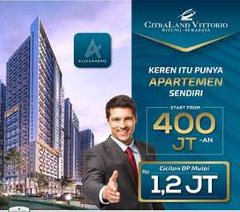 Apartment 400jt an Citraland Vittorio Wiyung Surabaya Barat