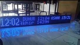 Jam digital sholat 160 cmx 20cm