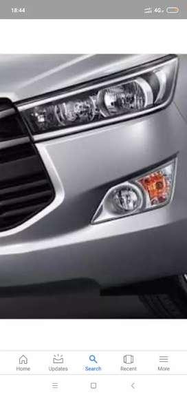 Innova crysta headlights and dikki lights