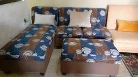 Sofa bed L model brankas