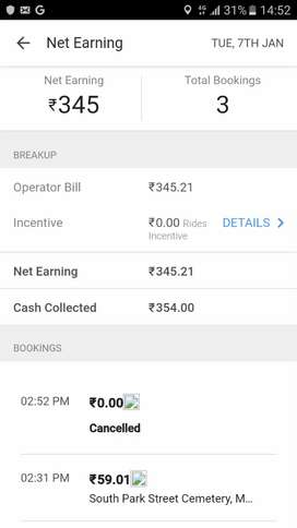 Need uber  driver for 9t.. howrah a.c. market..