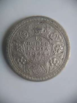 Old coin George VI king emperor
