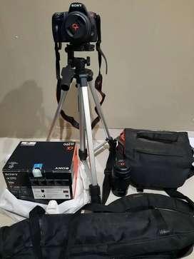 Kamera Sony DSLR Alpha 290 + Tripod + Lensa Tele