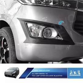 Cover foglamp lampu kabut exclusive black all new INNOVA 2016 - 2019