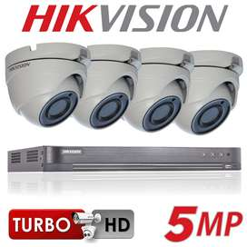HIKVISION 5MP Four CCTV Security Camera Installation