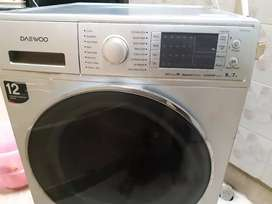 Daewoo full automatic front load washing machine 9kg washing,7kg dryer