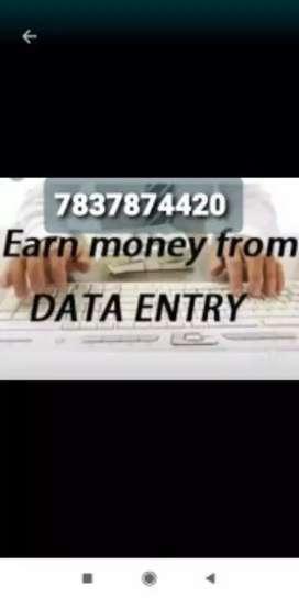 Online part time job data typing