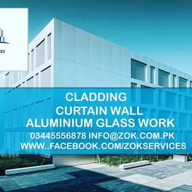 Curtain Wall Double Glazed Spider Fitting ACP Cladding