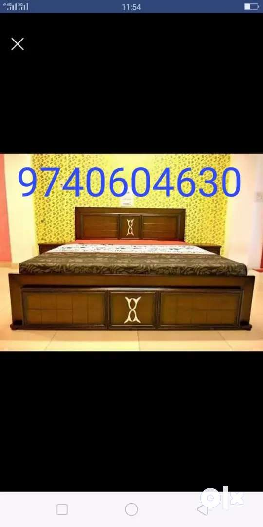 Brand new queen size without storage bed 0