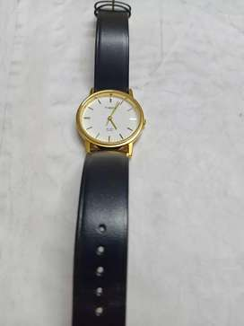 Timex men's leather band watch