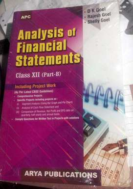 CLASS XII ACCOUNTACY BOOK By D K GOEL-Analysis of Financial Statements