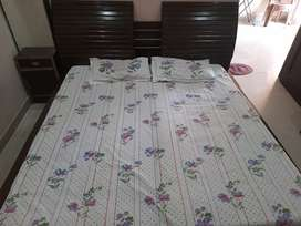 Double bed with dressing table and 2 seties