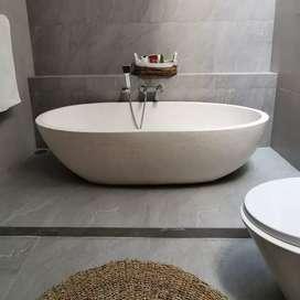 Bathtub Mewah Kebawetan Klasik I Terrazzo